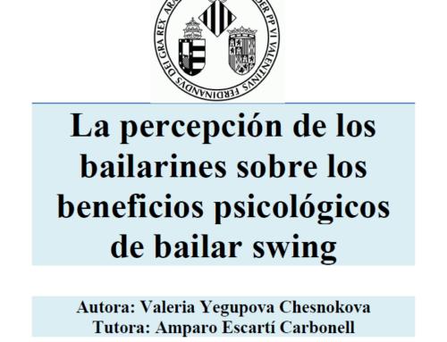 La percepción de los bailarines sobre los beneficios psicológicos de bailar swing